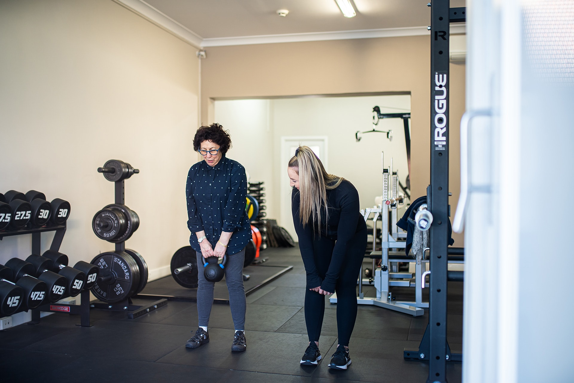 Personal Trainer Rachael Fisher Training with Client